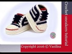 DIY baby booties crochet //Vasilisa - YouTube