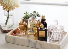 17 Cool Makeup Storage Ideas to Try ASAP | StyleCaster Love this idea for perfume storage Classy and simple