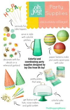 Oh Joy! for Target Party Collection - just bought the part that's for Landon's 2nd birthday BBQ!
