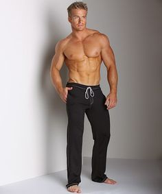 Sauvage Low Rise Nylon/Lycra Workout Pant Black at International Jock Underwear & Swimwear
