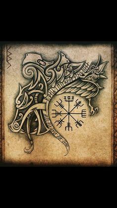 Viking Tattoo Sleeve, Viking Tattoo Symbol, Armor Tattoo, Norse Tattoo, Celtic Tattoos, Viking Tattoos, Sleeve Tattoos, Arte Viking, Viking Art