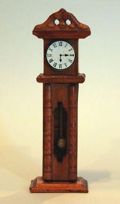 Vintage 1/2 Scale Dollhouse Miniature Tall Clock. $10.00, via Etsy.
