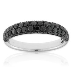 Black Diamond Ring 14K White Gold with Black Rhodium $1299