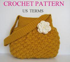 Crochet Pattern US Terms for Crochet Bag by MELIH63 on Etsy
