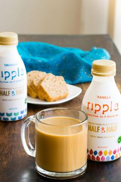 Ripple Half & Half Review (unbiased tasting & consistency notes)dairy-free, plant-based, vegan, and top allergen free in Plain Unsweetened and Vanilla. @ripplefoods
