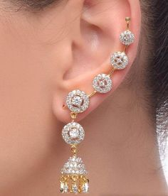 Buy Jewels Galaxy Imperial Circular Jhumka Earcuff (2 Piece)