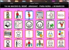 TABLERO DE COMUNICACIÓN PARA ARABOARD: Ha nacido el bebé.    Tablero de comunicación de 24 casillas (6x4) sobre el nacimiento del bebé.     http://arasaac.org/materiales.php?id_material=762    Descargar AraBoard versión PC:  http://giga.cps.unizar.es/affectivelab/araboard.html    Descargar AraBoard versión Android desde Google Play.