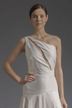 Victoria Kyriakides Bridal Collection, Love Birds Greek Fashion, Bird Dress, Bridal Collection, Formal Dresses, Wedding Dresses, One Shoulder Wedding Dress, Victoria, Birds, Gowns