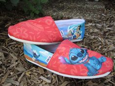 I want these, but I cannot justify spending that much...  DETAILED CUSTOM TOMS. $145.00, via Etsy.