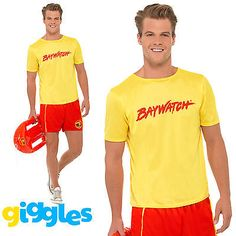 Baywatch lifeguard beach #adult mens #smiffys fancy dress costume - 2 #sizes,  View more on the LINK: 	http://www.zeppy.io/product/gb/2/201389122000/