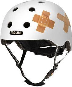 Helme Melon Urban Active Stripetease Fahrradhelm // Double Orange Blue Helme & Protektoren