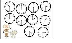 Classroom Freebies Too: Winter Telling Time Bump