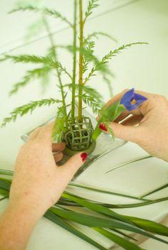 Ikebana 101 tutorial for 4 seasonal arrangements