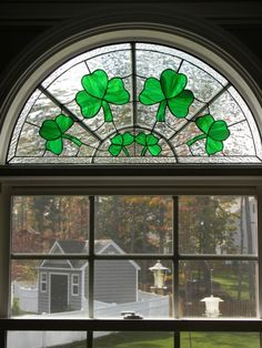 shamrock stained glass- reminds me of the shamrock my grandma used to have hanging in her window