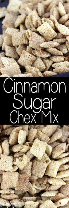 Sugar Chex Mix Cinnamon Sugar Chex Mix is one of the tastiest snacks. Since it's made in the microwave, it's quick and easy! Healthy Bedtime Snacks, Nutritious Snacks, Quick Snacks, Yummy Snacks, Chex Mix Recipes, Good Food, Easy Meals, Cooking Recipes, Favorite Recipes