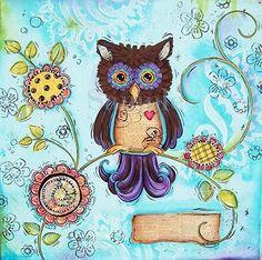 Childrens+Wall+Art+Owls+Funky+Owls+Girls+Room+by+WallFlowerArtShop,+$21.00