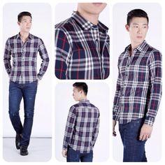 Caro shirt SMD.164. Burberry motif for elegant gent.