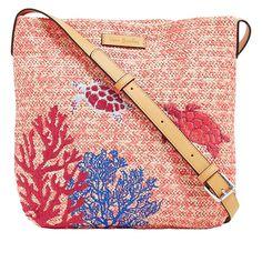 54b1cb28c3d6 Vera Bradley Straw-Design Crossbody Bag - 8954015