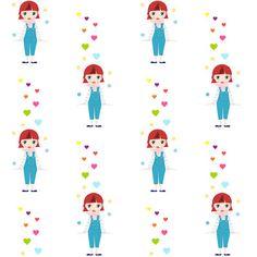 Free digital doll scrapbooking paper - ausdruckbares Geschenkpapier - freebie | MeinLilaPark – DIY printables and downloads