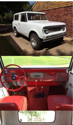 1965 International Harvester Scout 80.  My Mom used to talk about how great their old scout was.  Someday I would like to get a hold of one and restore it!