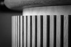 Detail of oak reception desk Design Firms, Furniture Design, Reception, Desk, Architecture, Detail, Writing Table, Arquitetura, Desktop
