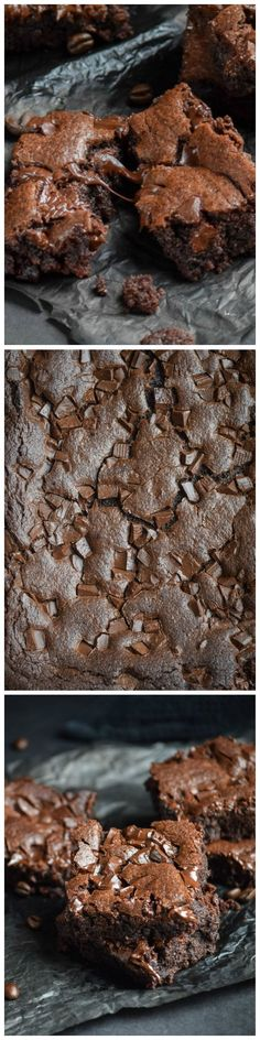 Midnight Mocha Chocolate Chunk Brownies - Super chocolately!!  | Come to Bagels and Bites Cafe in Brighton, MI for all of your bagel and coffee needs! Feel free to call (810) 220-2333 or visit our website www.bagelsandbites.com for more information!