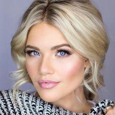 cool Элегантный макияж для блондинок с голубыми глазами (50 фото) — Make up пошагово
