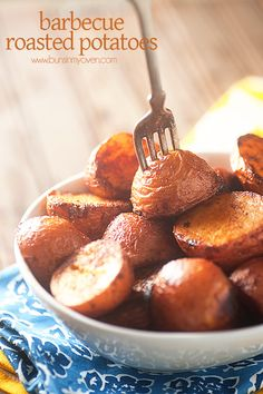 Oven Roasted Barbecue Potatoes, aka my new favorite roasted potatoes EVER!