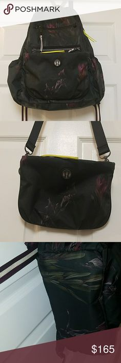 """Midnight Iris Multi Back to Class Backpack Check out my closet for more Lululemon! 2 bags in 1 - a backpack designed with a removable pouch that can be worn cross-body or around the waist, water resistant and easy to wipe clean, padded straps, exterior phone pocket, quick access side pockets, padded pocket for a 17"""" laptop, tested to hold 50 lbs. Main zipper replaced by Lululemon, see image 4. See image 6 for minor peel from a sticker. Very good condition, no wet dry bag or sternum strap…"""
