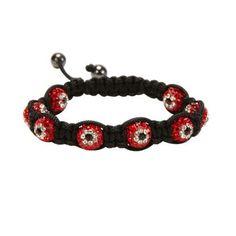 Light Siam Shamballa Evil Eye Crystal Bracelet #Kalifano