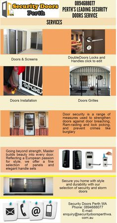 We offer very Cheapest Security Doors in Perth to secure your house. To know more visit us at 15 William Street, PERTH WA 6000 or  Call us at 894688077