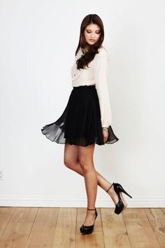 silk bouse and chiffon skirt by paper crown
