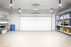 """So you've decided on a garage door style for your home. You may be wondering, """"What do I need to know before making this decision?"""" Garage Floor Paint, Wood Garage Doors, Garage Door Repair, Building A Garage, Garage House Plans, House Floor Plans, Car Garage, Tandem Garage, Cost To Build Garage"""