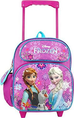 Disney Frozen Rolling Backpack is the perfect backpack for kids. When they are loaded down with homework, don& worry that their backpack is too heavy. They will be pulling it. Best Kids Backpacks, Little Backpacks, School Backpacks, Disney Frozen Toys, Frozen Movie, Frozen Merchandise, Backpack Outfit, Rolling Backpack, Laptop Bag