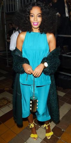 Look of the Day - March 08, 2015 - Solange Knowles in Lanvin from #InStyle