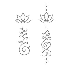 Unalome and Lotus #tattooideas #unalome #lotus