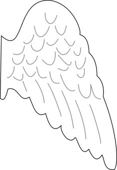 angel template | Angel Wing clip art - vector clip art online, royalty free & public ...