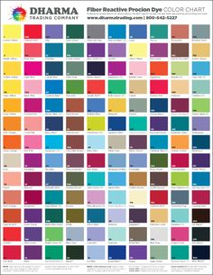 USE FOR: Tie-Dye, Tub Dyeing, Low Immersion Dyeing, Batik, Dye Painting, Silk Painting, Screen & Block Printing or Stenciling, even Tie-dyeing Silk in a Microwave (Dharma Trading Co. Site) - Call them to have this Color Card sent out to me! (1-800-542-5227)