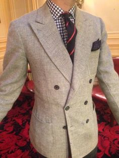 Laurent in Ripense vintage cloth bespoke DB.