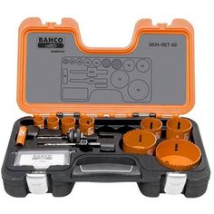 Bahco Professional Holesaw Set Sandflex® bi-metal holesaw set consisting of popular sizes within the engineering industry, water and sanitation industry and the electrical installation industry. Comes with a lifetime warranty. M16, Water And Sanitation, Electrical Installation, Power Tool Accessories, Tools Hardware, Hole Saw, Automotive Tools, Power Tools, Aluminium