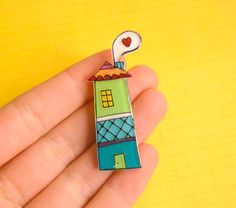 House Brooch by lacravatteduchien on Etsy, €12.00