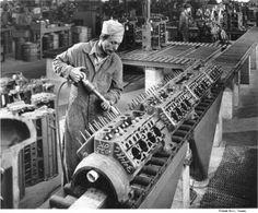 Flathead Rebuilding Shop, keepin' 'em on the road. Car Engine, Motor Engine, Ford V8, Assembly Line, Performance Engines, Old Fords, Us Cars, Mechanical Engineering, Ford Motor Company