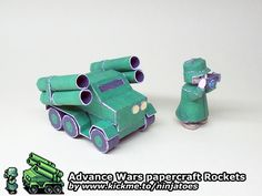 The Green Earth Rocket unit joins the rest of my papercraft Advance Wars army! ;o)