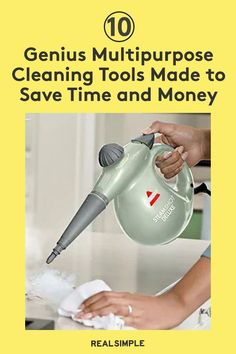 10 Genius Multipurpose Cleaning Supplies Designed to Save You Time, Space, and Money | These are some of the best multipurpose cleaning supplies on Amazon, like robot vacuum and mop combos, wet and dry mops, microfiber cloths and dusters, and steam cleaners that can tackle several cleaning tasks. These hard-working cleaning tools save you time and stress when cleaning. #cleaningtips #cleanhouse #realsimple #stepbystepcleaning #cleaninghacks #cleaningguide Cleaning Hacks, Cleaning Supplies, Steam Cleaners, Laundry Hacks, Tidy Up, Real Simple, Wet And Dry, Clean House, Stains