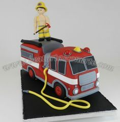 fire engine cake T9920