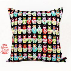 16x16 Pillow CoverMatryoshka Dolls Design by HanzeePanzeeCreation