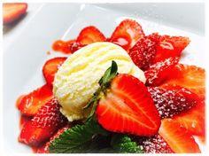 Joghurt, Jogurt, Eis, Glace, Erdbeeren, Eismaschine, Wettbewerb