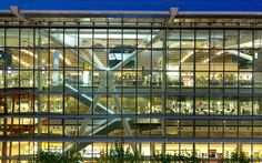 London Heathrow Airport, UK    Highlights: Terminal 5 building (designed by Richard Rogers), Gordon Ramsay restaurant, colossal number of shops