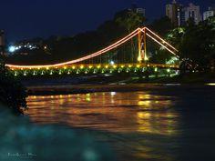 E em meio à natureza, Piracicaba! Ponte Pênsil e Rio Piracicaba.