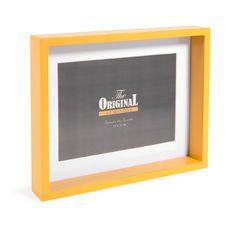 Cadre photo en bois jaune 18 x 23 cm MALMO